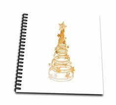 Susans Zoo Crew Holidays - Christmas Tree swirls n star mottled orange - Memory Book 12 x 12 inch (db_181928_2) ** Read more reviews of the product by visiting the link on the image.