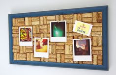 Indigo Blue Wine Cork Board >> http://tinyurl.com/cuteandpaste-indigo  #winecork #corkboard #pinboard #indigoblue