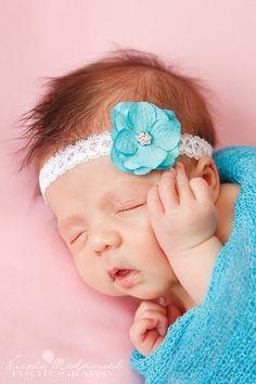 Blue HeadbandBlue Baby HeadbandBaby HeadbandNewborn HeadbandInfant HeadbandSpring HeadbandGirls HeadbandRosette HeadbandHeadband