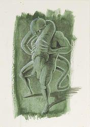 """""""Fusion 18"""" von Matthias Triet   Acryl auf Aquarellpapier   24 x 34 cm   www.einfachKunst.ch   Art   Basel   Schweiz"""