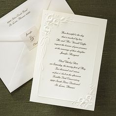 Borders of Calla Lilies - Invitation - Ecru Not exactly our style but reminiscent of Mucha...