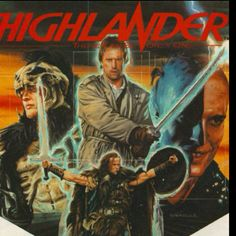 Vintage movie poster Highlander
