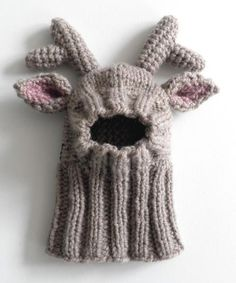 Reindeer dog hat - sizes XS and S Knitting Crochet pattern by majStyle Knitting Patterns For Dogs, Christmas Knitting Patterns, Crochet Patterns, Crochet Hood, Knit Crochet, Diy Crochet Dog Sweater, Crochet Dog Clothes, Reindeer Hat, Paintbox Yarn