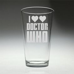 FREE SHIPPING Personalized I heart heart Doctor Who by FanGlasses