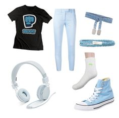 """""""PewDiePie Inspired Outfit: Casual"""" by artfreak1154 on Polyvore featuring Dondup, Urbanears, Assya, Tateossian and Converse"""