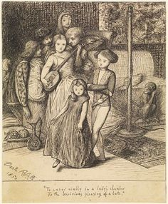 To caper nimbly in a Lady's Chamber to the lascivious pleasing of a Lute.  By Dante Gabriel Rossetti