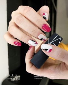 Nail polish strips are an easy way to add designs with tape to your manicure ❤ Here you find great ideas can be easily customized ❤ See more at LadyLife ❤ Elegant Nail Designs, Elegant Nails, Nail Art Designs, Trendy Nails, Cute Nails, Nails Ideias, Hair And Nails, My Nails, Fall Nail Art