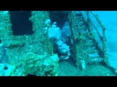 #Scuba #Diving in #Roatan Honduras on the Odyssey Wreck with Alana and Michael.