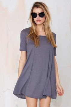 Simple Game Ribbed Dress - Day | Shift | Basic | Dresses | All | Dresses | Dresses