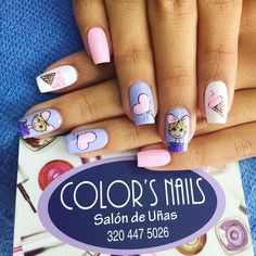 #colors_nails_salon_de_unas #uñas #nails #facatativa #uñasfacatativa #diseñodeuñas #cutenails #prettynails Cute Nails, Pretty Nails, Mario Bros, Manicure And Pedicure, Nail Colors, Nailart, Finger Nails, Polish Nails, Unicorn Nails