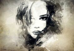 abstract woman portrait Wall Mural ✓ Easy Installation ✓ 365 Day Money Back Guarantee ✓ Browse other patterns from this collection! Portrait Acrylic, Portrait Wall, Wall Art Prints, Canvas Prints, Female Portrait, Woman Portrait, Fashion Painting, Art Background, White Art