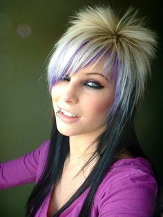 Funky Hairstyles for Medium Length Hair http://www.hairstylesforgirl.com/funky-hairstyles-medium-length-hair/