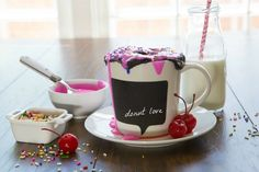YUM: DIY a No-Bake Donut Mug Cake in Just Five Minutes