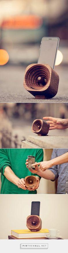 Acoustic iPhone Samsung S7 Speaker OKTIE Passive Wood Dock Amplifier Wooden