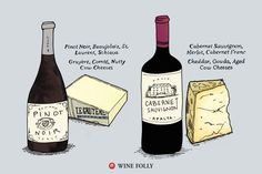 Tip #1: Pair wines and cheeses with equal intensity.   pinot-noir-cabernet-sauvignon-cheese-pairing