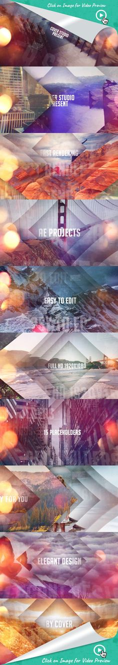 cinematic, circles, clean, corporate, dynamic, elegant, fashion, intro, new, opener, photo, show, stylish, titles, travel, after effects templates, after effects ideas, after effects motion graphics, after effects projects, videohive projects Photo Slideshow - MAIN FEATURES                     Photos Not included in Main File                     FullHD 1920×1080 project                      Duration : 01:00 (15 place holders)  No plugin required                     Fast render         ...
