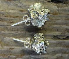 Pyrite Fool's Gold Earrings, Fool's gold always makes me think the the old Mary-kate and Ashley movie,-Briana