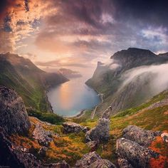 The amazing view in Senja - Norway. My desire to go here increases daily!