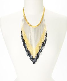 Look what I found on #zulily! Gold & Silver Fringe Bead Necklace #zulilyfinds