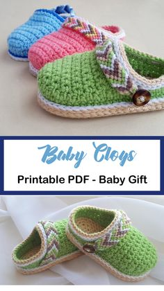Baby Shoes Crochet Patterns – Baby Gift - A More Crafty Life - Crochet - Crochet Baby Socks, Baby Booties Knitting Pattern, Crochet Baby Sandals, Baby Shoes Pattern, Crochet Toddler, Booties Crochet, Crochet Baby Clothes, Crochet For Kids, Baby Patterns