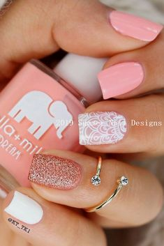 50 Sweet Pink Nail Design Ideas for a manicure that's just what you need - Nagellack Tropical Nail Designs, Pink Nail Designs, Acrylic Nail Designs, Nails Design, Bright Summer Acrylic Nails, Cute Summer Nails, Pink Summer, Nail Summer, Pastel Nail