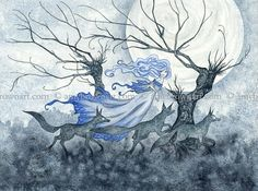 The Wolf Dream 8X10 PRINT by Amy Brown