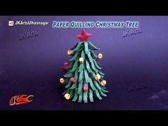 Paper Quilling Christmas Tree | DIY How to make Christmas decorations | JK Arts 805 - YouTube