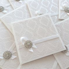 White wedding invitation