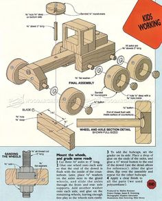 #349 Road Grader - Wooden Toy Plans - Wooden Toy Plans