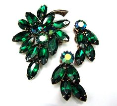 Vintage JULIANA  Brooch and Earrings Set by ALLUWANTISHERETODAY, $65.00