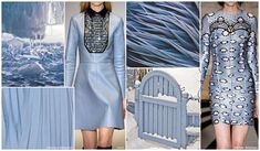 FASHION VIGNETTE: TRENDS // FASHION SNOOPS - FALL/WINTER 2015-16 WOMEN'S COLOR- SKY