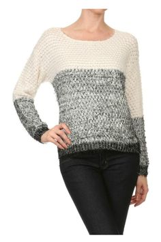 Super-soft fuzzy sweater with a relaxed, roomy fit.   Fuzzy Soft Sweater by Shosho. Clothing - Sweaters - Crew & Scoop Neck Washington
