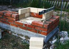 Smokehouse, Pizza Oven, Garden Grill - DIY Tutorial : 7 Steps (with Pictures) - Instructables Diy Grill, Outdoor Oven, Outdoor Stone, Smokehouse, Outdoor Furniture Sets, Outdoor Decor, Stone Work, Hearth, Diy Tutorial