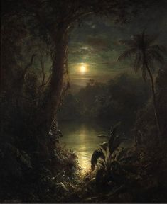 """""""Twilight in the Tropics (a Tropical Moonlight)"""" by Frederic Edwin Church, 1874"""