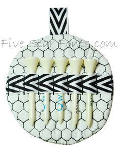 Golf Tee Holder In the Hoop -- What a great small gift idea for a golfer!