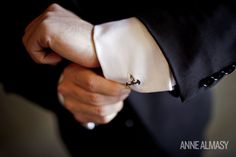 Batman cufflinks for the groom