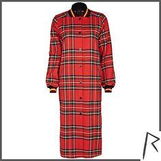 #RihannaforRiverIsland Red Rihanna tartan bomber jacket dress. #RIHpintowin click here for more details >  http://www.pinterest.com/pin/115334440431063974/