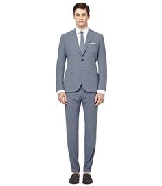 Reiss Rushby linen suit