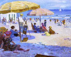 Edward Potthast - Umbrellas and the Sun