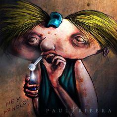 - Title: 90's Cartoons With Drug Problems Will Take You to Nightmaretown - Artist: Paul Ribera  - Year: 2014  - Medium: Paint - Size: Unknown - Museum/repository: Unknown
