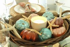 COASTAL SHORE CREATIONS: Coastal Autumn Tablescape