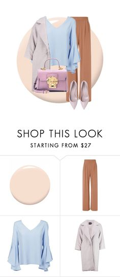 """🎁Baby Blue Outfit🎁"" by puddingis ❤ liked on Polyvore featuring interior, interiors, interior design, home, home decor, interior decorating, Christian Dior, Fleur du Mal, Dondup and Boohoo"
