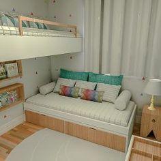 Ideia de decoração para quarto com duas crianças