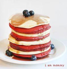 4th of July Breakfast! #pancake #recipes