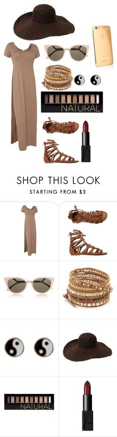 """""""College: Probate"""" by devan-nicole on Polyvore featuring LE3NO, O'Neill, Fendi, Chan Luu, Accessorize, Gottex, Goldgenie, Forever 21 and NARS Cosmetics"""