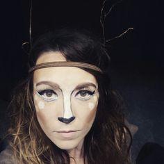 DIY deer makeup.