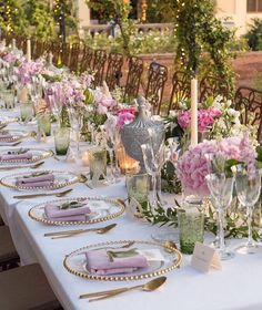 Table Setting Design, Table Settings, Garden Wedding, Table Decorations, Instagram, Emilio, Home Decor, Bliss, Party Ideas