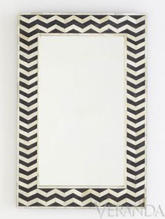Love this Chevron Mirror! Mirrors for Every Wall of the House - Veranda.com