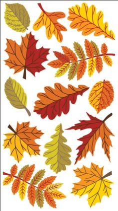 Sticko Stickers-fall Leaves for sale online Fall Leaves Drawing, Leaf Drawing, Leaf Crafts, Fall Crafts, Fall Leaves Crafts, Autumn Art, Autumn Leaves, Halloween Drawings, Flower Doodles