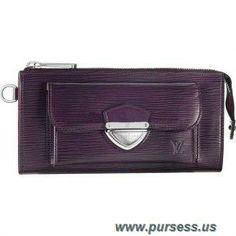 Discounts Women Louis Vuitton Epi Leather Astrid Wallet Cassis M6659K